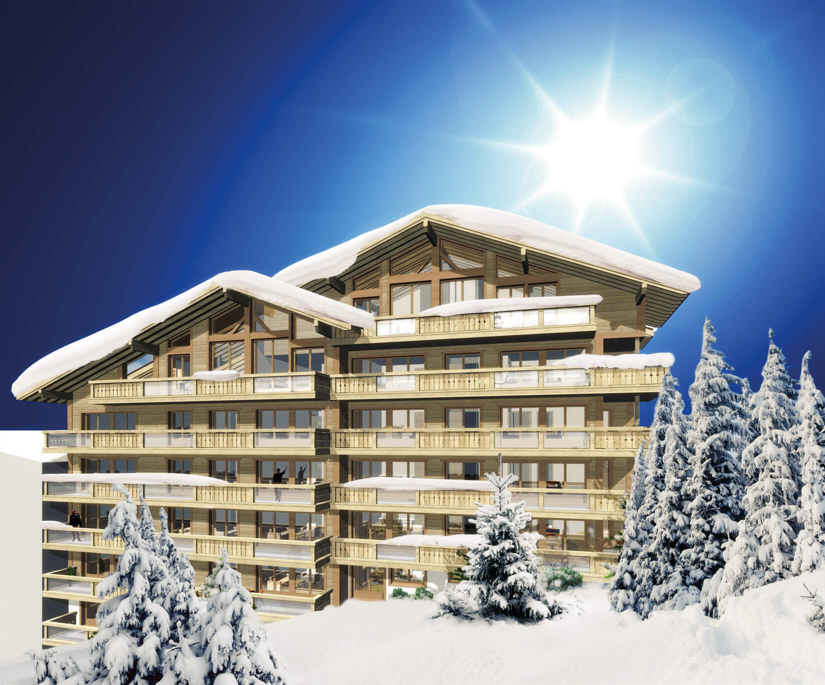 Les Terrasses de Nendaz – Luxe ski in – ski out appartementen in 4-vallees